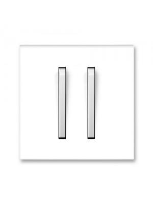 Клавіша вимикача Neo білий/крижаний білий 2кл