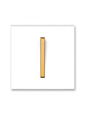Клавіша вимикача Neo білий/крижаний оранжевий 1кл