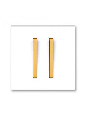 Клавіша вимикача Neo білий/крижаний оранжевий 2кл