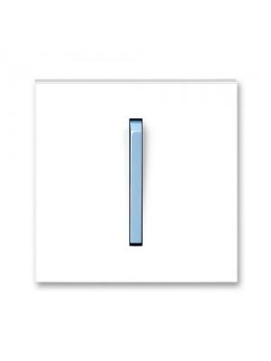 Клавіша вимикача Neo білий/крижаний синій 1кл