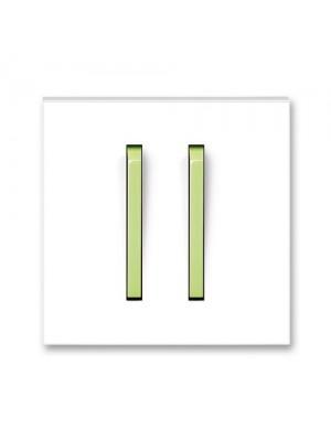 Клавіша вимикача Neo білий/крижаний зелений 2кл