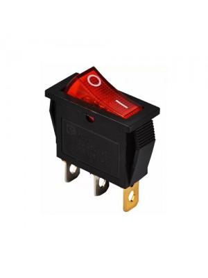Перемикач Аско 1 клав. червоний з підсвічуванням KCD3-101N
