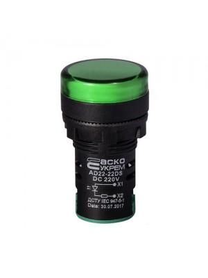 Світлосигнальна арматура AD22-22DS 220V DC зелена