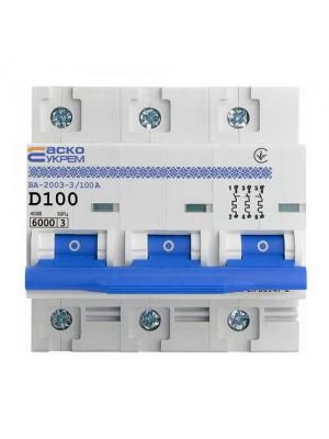 Автоматичний вимикач АСКО ВА-2003 3P D 100А