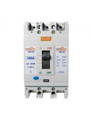 Автоматичний вимикач АСКО ВА-2004 FB125 3/100А ECOHome