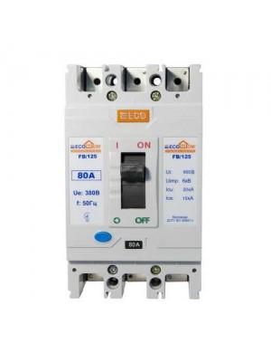 Автоматичний вимикач АСКО ВА-2004 FB125 3/80А ECOHome