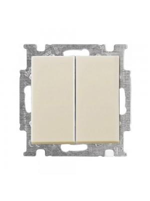 Вимикач ABB basic55 cлонова кість 2кл