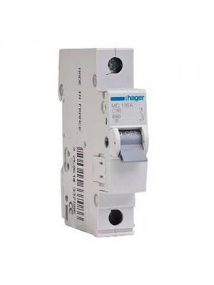 Автоматичний вимикач Hager 1P 06A C 6kA