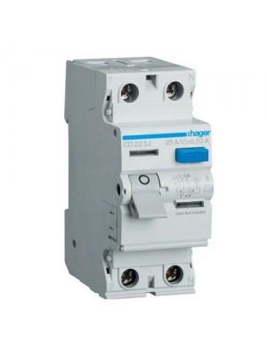 Пристрій захисного відключення Hager 2P 40A 30мA тип A