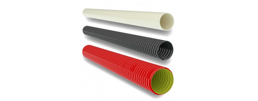 Труби для електропроводки: рівні та гофровані вироби Тип труби Гофрована гнучка, Умовний діаметр, мм 16