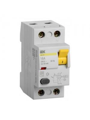 Пристрій захисного відключення IEK ВД1-63 2P 25A 30мА тип AC
