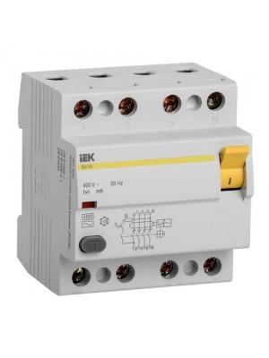Пристрій захисного відключення IEK ВД1-63 4P  25A 30мА тип AC