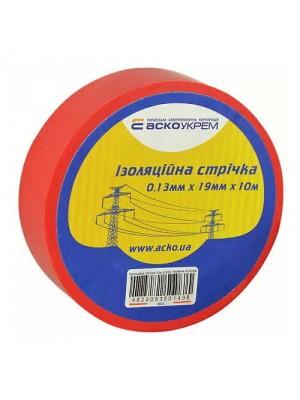 Ізострічка АСКО 0,13мм х 19мм / 10м червона