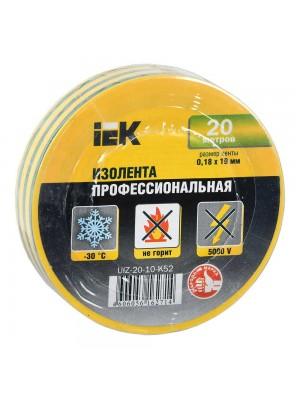 Ізострічка IEK 0,18мм х 19мм / 20м жовто-зелена