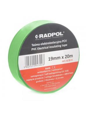 Ізострічка Radpol 0,13мм х 19мм / 20м зелена