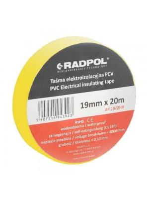 Ізострічка Radpol 0,13мм х 19мм / 20м жовта
