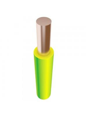 Провід ПВ-1 6 жовто-зелений Південкабель