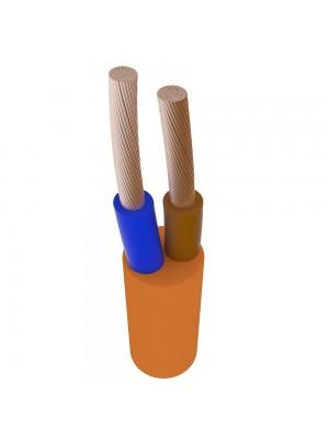 Провід ПВС 2х1,5 Прикарпаткабель помаранчевий