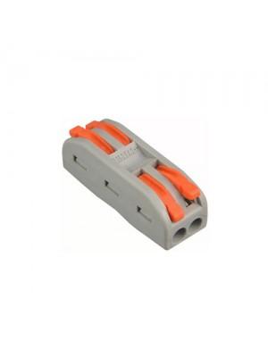 Клема швидкого монтажу 2x2х4 мм² прохідна PCT-2-2 ACKO