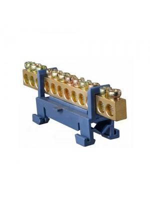 Шина нульова BC-512 6x9мм 12 отворів з ізолятором ACKO