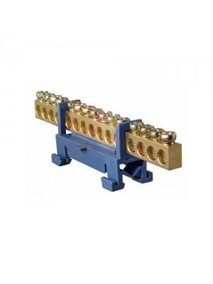 Шина нульова BC-515 6x9мм 15 отворів з ізолятором ACKO