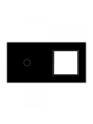 Панель сенсорна комбінована (1-0) Livolo чорне скло