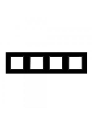 Рамка Livolo чорне скло 4-на