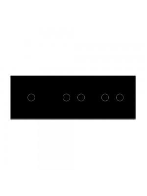 Панель сенсорного вимикача Livolo чорне скло 3-а (1-2-2)