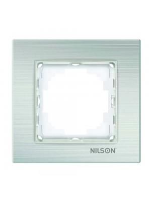 Рамка Nilson Alegra срібний алюміній 1-на