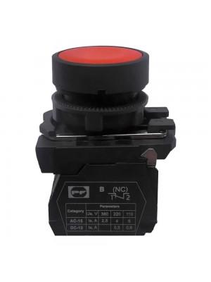 Кнопка Промфактор Пуск 1NC без фіксації червона пластик