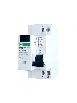 Диференційний автомат Промфактор FAP6-AC C25 30мА