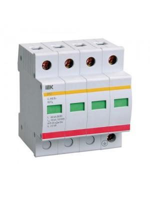 Обмежувач перенапруги IEK ОПС1-C4P 20kA/40kA/400B