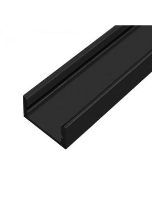 Профіль для LED стрічки UKRLED накладний чорний