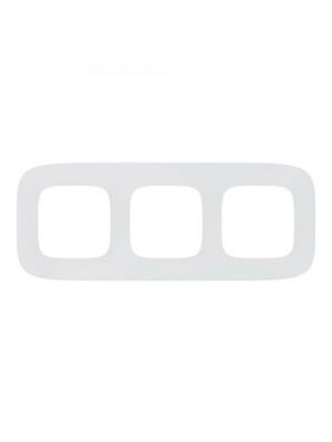 Рамка Valena Allure біла 3-на