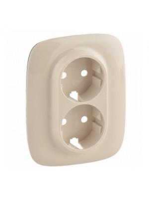 Лицева панель Valena Allure слонова кістка для розетки 2-ної з/з