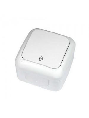 Вимикач VI-KO Palmiye білий 1кл прохідний накладний IP54