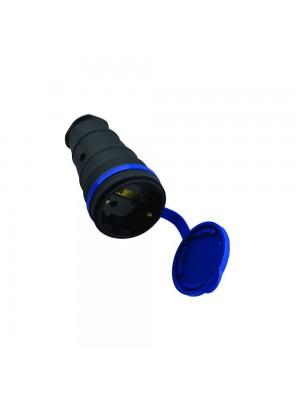 Розетка Violux каучук переносна з кришкою IP44