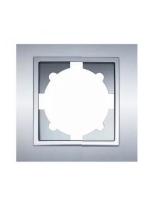 Рамка ELBI ZENA Silverline сірий металік 1-на