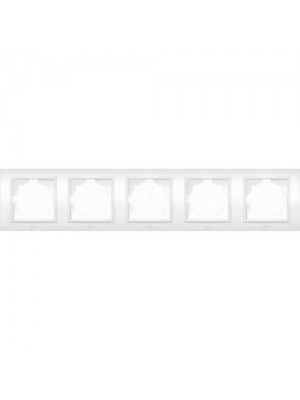 Рамка ELBI ZENA біла 5-на