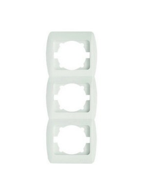 Рамка ELBI ZIRVE Fixline біла 3-на вертикальна