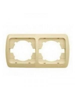 Рамка ELBI ZIRVE Fixline кремова 2-на горизонтальна