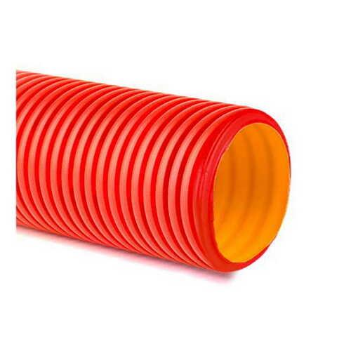 Труба гофрована двостінна 110/93 червона (50м) ДКС ( 121911 ) | Amperok.com.ua